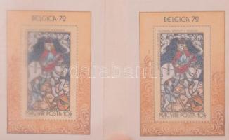 195 db modern magyar blokk 7 db pergamenes blokkberakóban /