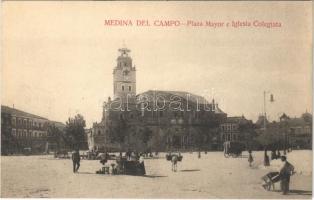 Medina del Campo, Plaza Mayor e Iglesia Colegiata / square, church, market