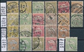 1904-1906 Turul összeállítás különböző számvízjelekkel, összesen 22 db bélyeg (68.950)