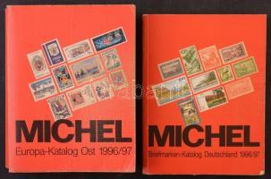 1996/97 MICHEL Német katalógus + 1996/97 Kelet-Európa használt katalógusok/ 1996/97 MICHEL one Germany catalogue and one East Europe catalouge together (used)