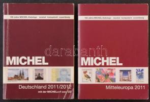 MICHEL 2011/2012 Német és 2011 Közép-Európa használt katalógusok/ MICHEL Germany 2011/12 and Central Europe 2011 catalouges together / Deutschland-Kataloge 2011/2012 und Mitteleuropa-Kataloge 2011