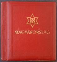 KABE előnyomott magyar album 1871-1973, bordó rugós borítóval, alig használt, jó állapotú