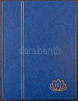Lindner 30 fehér lapos A4-es berakó kék borítóval, újszerű állapotban