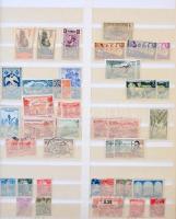 Francia gyarmati bélyegek 10 lapos SCHAUBEK rugós berakóban