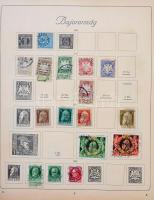 Német Államok, Deutsches Reich gyengécske alapgyűjtemény a kezdetektől 1940-ig előnyomott TURUL albumban