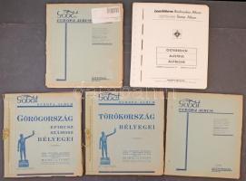 GOBÁT Európai országok albumlapjai listával kiegészítve, benne Görögország, Törökország, Lettország, Litvánia és Ausztria (1962-1980)