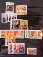 Vegyes külföldi Lenin motívum gyűjtemény többletpéldányokkal, sorokkal, blokkokkal, svéd. gyűrűs berakó 22 lapján (pár helyen enyhén összetapadt bélyegek)