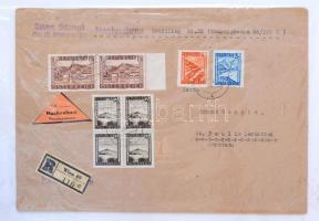 Ausztria kis levélgyűjtemény, néhány klasszikus és kb 40 II. világháború utáni küldemény, fotóalbumban