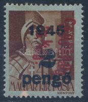 1946 Betűs Csomag 5 kg/2P/4f kettős piros felülnyomással (20.000)