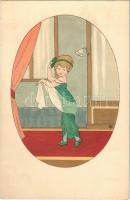 Children art postcard. M. Munk Vienne Nr. 905. artist signed
