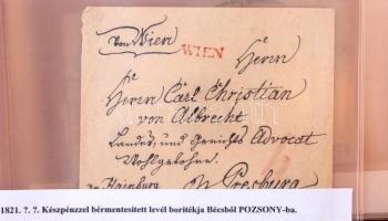 Magyar és osztrák bélyeg előtti levelek és néhány későbbi pénzeslevél levélberakóban