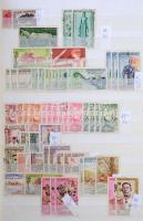 Laosz előrendező 1951-1996 közötti kiadásokkal, sorokkal, darabokkal, többpéldányos értékekkel a végén egy kis blokk összeállítással 16 lapos KABE A/4-es berakóban.