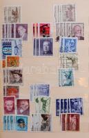 Ausztria modern képes bélyegek több példányos előrendezője 1964-1988, 12 vastag lapos kék kötésű berakóban
