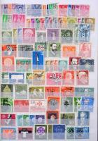 NSZK bélyeg gyűjtemény ~1950-től kb a kilencvenes évek végéig A/4-es 6 fehér lapos berakóban.