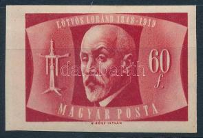 1948 Eötvös Loránd vágott bélyeg (35.000)