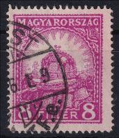 1926 Pengő-fillér 8f forgalomba került, vízjel nélküli hamisítvány a posta kárára
