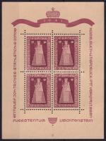 Liechtenstein 1941 Duxi Madonna kisív (Mi EUR 500.-) (apró gumihiba / small gum disturbance)