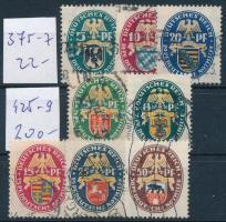 Deutsches Reich 1925-1928 Nothilfe I. + III. sorok Mi 375-377 + 425-429 (min. Mi EUR 222.-)
