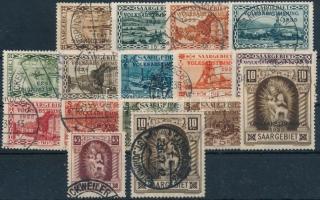 Németország - Saar 1925-1934 Forgalmi sor Mi 102-103 + Népszavazás sor 14 értéke Mi 179-188, 191-193 (Mi EUR 155.-)