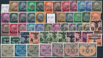 Elzász, Lotharingia, Generalgouvernement összeállítás stecklapon (Mi EUR 127.-)