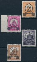 1931 Kisegítő bélyegek I. régebbi kiadású sor 15-ös fogazással (6.500)