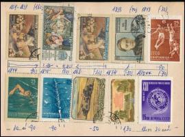 12 db cserefüzetben több mint 1000 db vegyes külföldi bélyeg + néhány magyar és NDK FDC