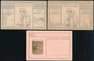 3 db használatlan tábori posta levelezőlap, rajzoltak és fényképes + 7 db régi, futott svájci képeslap