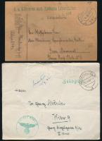 10 db I. és II. világháborús magyar és német tábori küldemény
