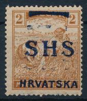 SHS 1918 Arató 2f kettős felülnyomással, Bodor vizsgálójellel