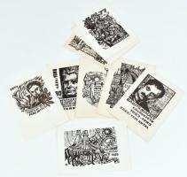 Fery Antal (1908-1994) 12 klf ex librise, mind általa aláírva