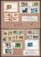 NDK 1981 2 db ajánlott küldemény