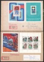 NDK 1977-1988 3 db levél blokkal és/vagy kis ívvel