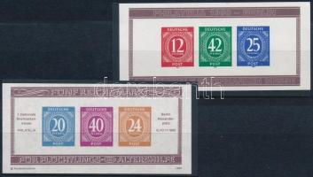 Németország- Berlin 1990 2 db emlékív a Berlini bélyegkiállításról (1 értéken betapadás / small gum disturbance)