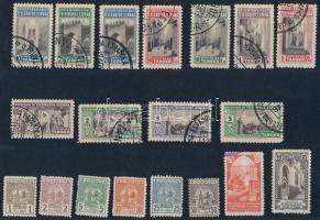 19 db Spanyol Tanger és Marokkó seriff postahivatal bélyeg berakólapon