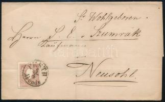 1861 10 kr levél PESTH/Abends-NEUSOHL