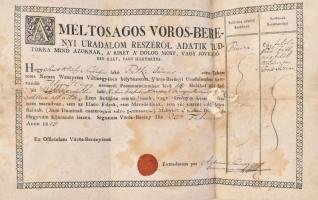 1815 Szőlőlevél viaszpecséttel