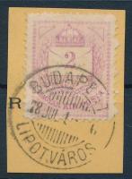 1874 2kr durva-finom gyöngyjavítással (ex Lovász)