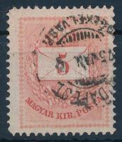 1874 5kr I. típus gyöngyjavítással, vésésjavítással (ex Lovász)