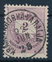 1881 2kr a jobb alsó háromszögnél folt (ex Lovász)