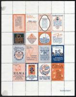 1915 Levélzáró teljes ív