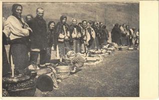 Kőrösmező, Körösmező, Jaszinya, Jasina, Yasinia (Máramaros); Sveceni Paschy. Fotoam. O. Masny / Húsvéti áldozat / Passover sacrifice, folklore (EK)