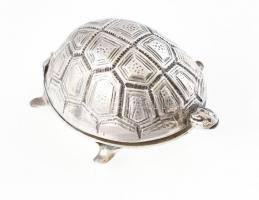 Ezüst(Ag) teknősös gyógyszeres dobozka, jelzett, nettó: 19,62 g