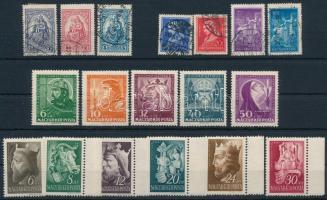 18 db régi bélyeg közte sorok