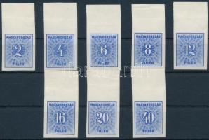 1934 Kékportó ívszéli vágott sor (10.000)
