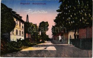 1918 Pragersko, Pragerhof; Bahnhofstraße / street view. Verlag Amalie Churfürst