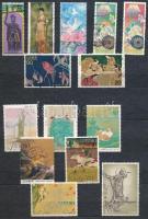 Japán színes motívum összeállítások, 10 lapos, közepes berakóban
