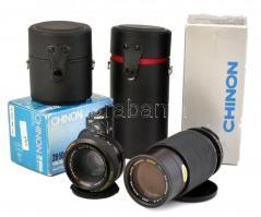 Chinoin 80-200mm f4,5 és 28-50mm 13,5-4,5 objektív, eredeti dobozában