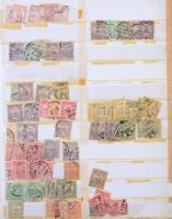 1900-1991 Magyar használt rendező több ezer bélyeggel 20 lapos kissé rozoga berakóban, gyűjtőknek ideális összeállítás, magas katalógusérték!