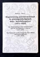 Márfai Á. - Szép E.: Magyarország postahivatalainak és postaügynökségeinek hely-, és keletbélyegzései (1871-1920) (használt állapotban, kieső lapokkal)