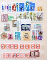 1946-2000 Magyar postatiszta töredék sorok és darabok berakóban, kb 850 db bélyeg, magas katalógusérték!